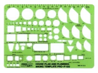 Pro Art Inking Template - House Plan and Plumbing 1/4 in. Scale