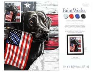 """projects & kits: Paint Works Paint By Number Kit 11""""x 14"""" Patriotic Dog"""