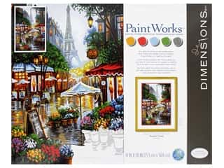 craft & hobbies: Paint Works Paint By Number Kit 14 in. x 20 in. Springtime In Paris