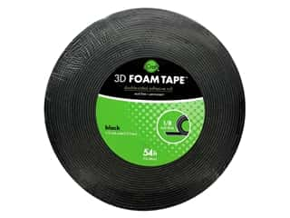 glues, adhesives & tapes: iCraft 3D Foam Tape Jumbo Roll - 1/8 in. - Black 54 ft.