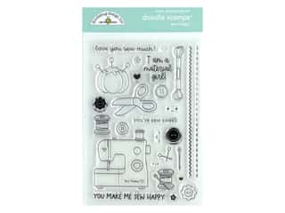 Doodlebug Collection Cute & Crafty Doodle Stamps Sew Happy
