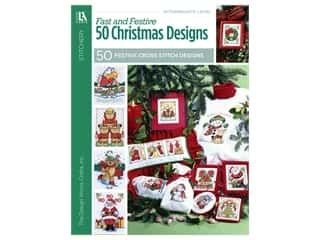 books & patterns: Leisure Arts Cross Stitch Fast And Festive 50 Christmas Designs Book