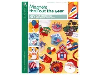 Leisure Arts Magnets Thru Out The Year Plastic Canvas Book