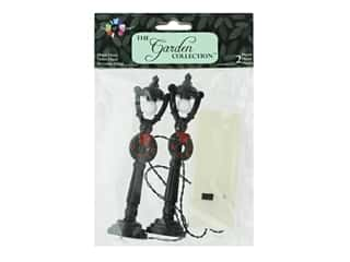Midwest Design Garden Touch Of Nature Lamp Post 4.5 in. Blk Wreath 2 pc