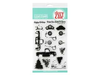 Avery Elle Clear Stamp Layered Holiday Truck