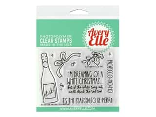 Avery Elle Clear Stamp Prosecco-Ho-Ho