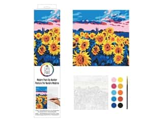 Plaid Paint By Number 14 in. x 14 in. Sunflower Meadow