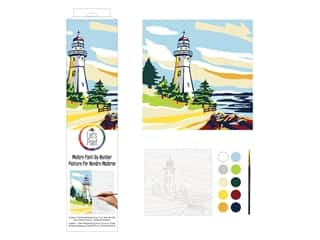 Plaid Paint By Number 14 in. x 14 in. Lighthouse