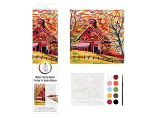 Plaid Paint By Number 14 in. x 14 in. Fall Barn
