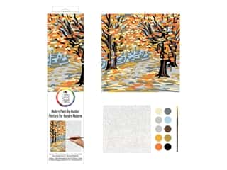 Plaid Paint By Number 14 in. x 14 in. Fall Landscape