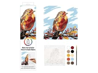 Plaid Paint By Number 14 in. x 14 in. Fall Bird
