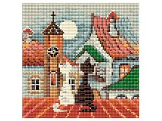 projects & kits: Riolis Diamond Mosaic Kit 7.75 in. x 7.75 in. City & Cats Spring