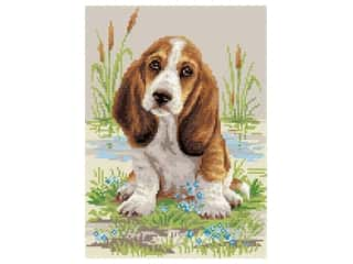 projects & kits: Riolis Diamond Mosaic Kit 10.75 in. x 15 in. Basset Hound Puppy