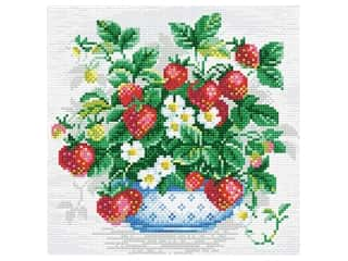 projects & kits: Riolis Diamond Mosaic Kit 10.75 in. x 10.75 in. Basket of Strawberries