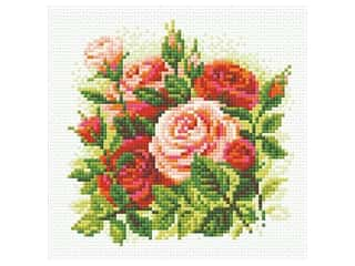 projects & kits: Riolis Diamond Mosaic Kit 7.75 in. x 7.75 in. Roses