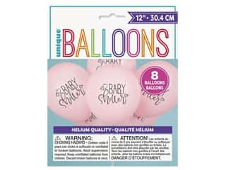 Unique Balloon 12 in. Baby Shower Petal Pink 8 pc