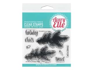 Avery Elle Clear Stamp Layered Pine