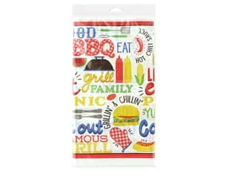Amscan Collection Picnic Tablecover 54 in. x 102 in. BBQ Plastic