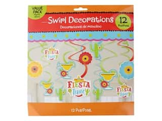 Amscan Collection Fiesta Paper Cut-Outs Value Pack Swirl Decorations 12pc