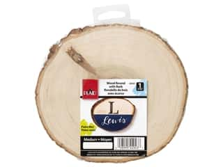 craft & hobbies: Plaid Wood Round With Bark 7 in.