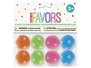 Unique Party Favors Glow In The Dark Bounce Ball 8pc