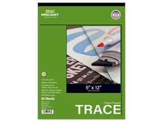 Pro Art Tracing Paper Pad 25 lb 9 in. x 12 in. 50 pc