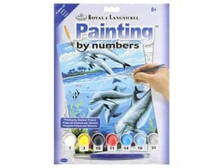 Royal Paint By Number Kit Dolphins