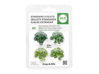 We R Memory Keepers Standard Eyelets 60 pc. Green