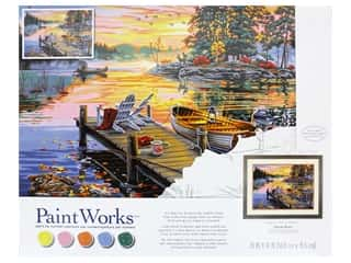 craft & hobbies: Paint Works Paint By Number Kit 20 in. x 14 in. Morning Paradise