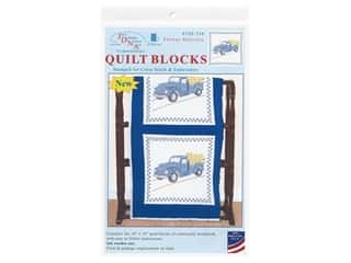 Jack Dempsey Quilt Block 18 in. White Flower Delivery 6 pc