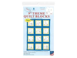 Jack Dempsey 9 in. Theme Quilt Blocks Gnomes 12 pc