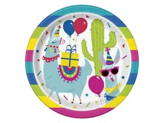 craft & hobbies: Unique Collection Llama Birthday 9 in. Plates 8 pc