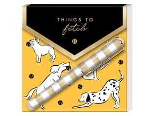 Lady Jayne Note Pad Matchbook With Pen Fetching Dogs Foil