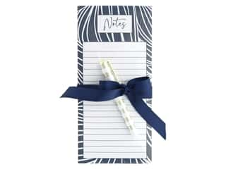 Lady Jayne Note Pad Magnetic List With Pen Indigo Waves