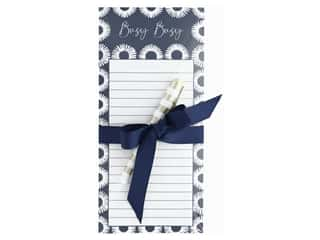 Lady Jayne Note Pad Magnetic List With Pen Indigo Circles