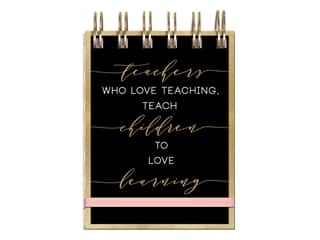 Lady Jayne Note Pad Spiral Love Learning Foil