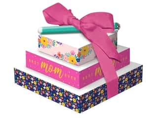Lady Jayne Stationery Set Tower Of Notes With Pen Happy Floral Mom