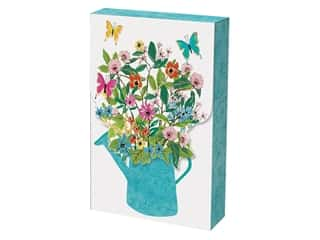 Punch Studio Note Cards Pouch Full Bloom Water Can