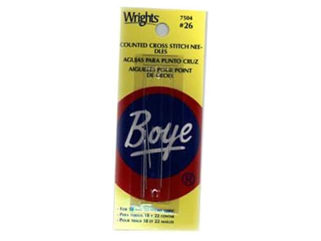 Boye Counted Cross Stitch Needles Size 26 4 pc.