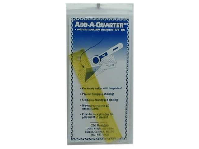 CM Designs Add-A-Quarter Ruler 6 in.