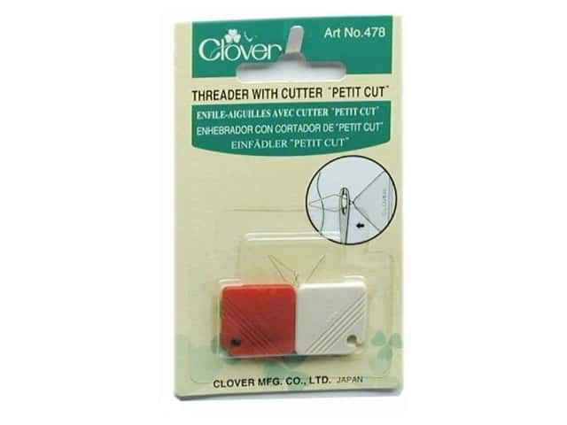 Clover Petite Cut Needle Threader with Cutter 2 pc.