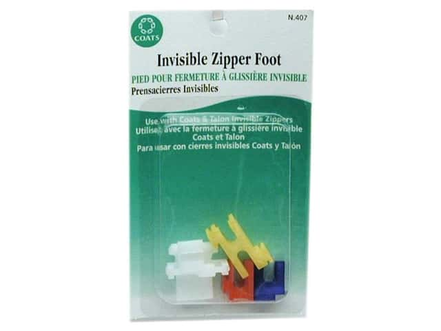 Coats Invisible Zipper Foot 4 pc.
