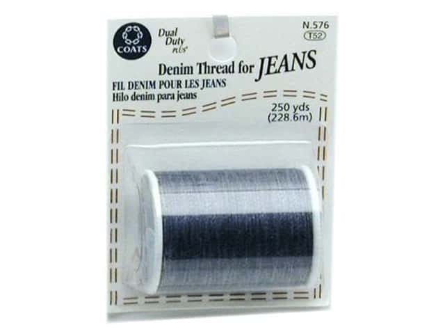 Coats & Clark Dual Duty Plus Denim Thread Card 250yd Blue