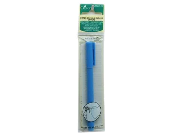 Clover Water Soluble Marker Thick Point Blue