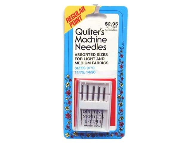 Quilter's Machine Needles by Collins 9, 11, 14