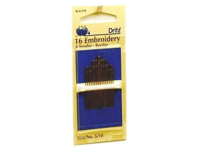 Embroidery Needles by Dritz Size 5/10 16pc