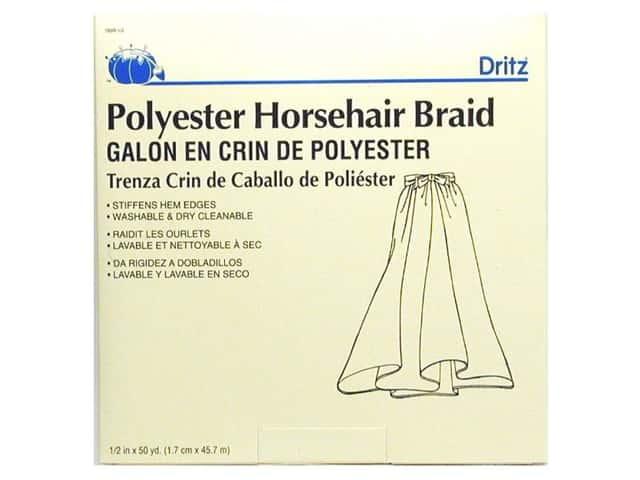 Horsehair Braid by Dritz 1/2 in x 50 yd (50 yards)