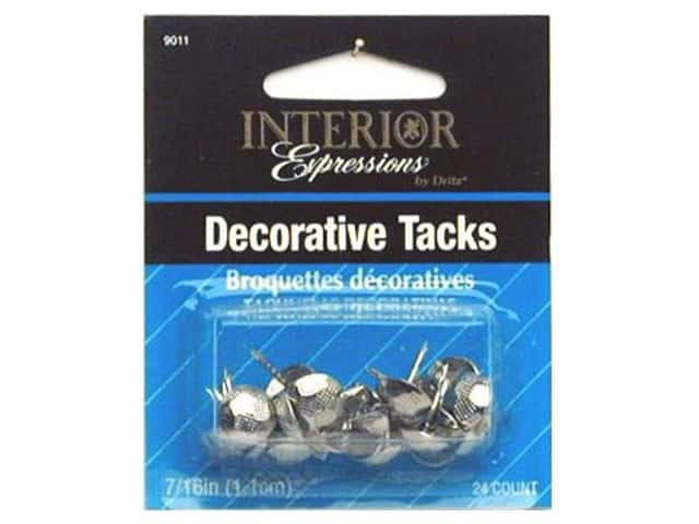 Dritz Decorative Nails 5/8 in. Round Hammered Nickel 24 pc.