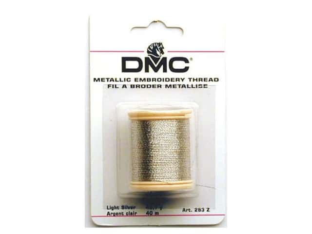 DMC Metallic Embroidery Thread 44 yd. Silver
