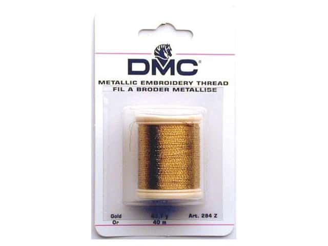 DMC Metallic Embroidery Thread 44 yd. Gold